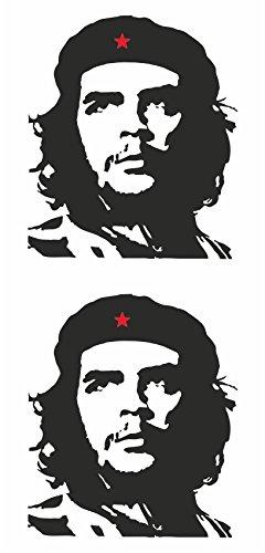 carstyling XXL Contours d'autocollant Che Guevara Set de 2