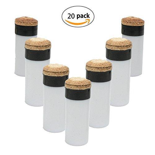 Tangger 20PCS 13mm Puntas De Palo De Billar De Repuesto De Billar Screw-on Consejos con Taco De Billar Palo Virolas