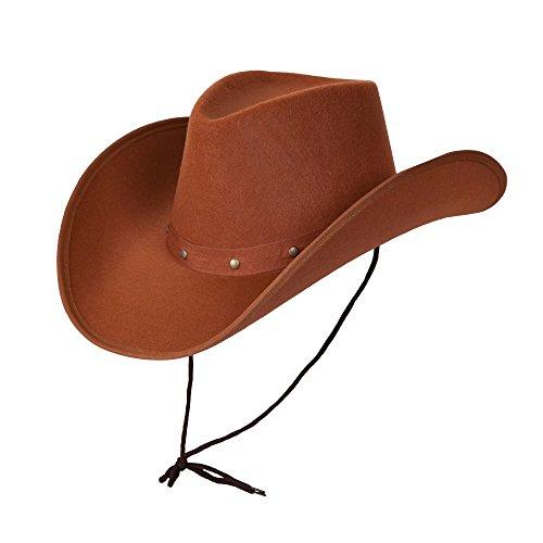 Wicked Costumes - Cappello da Cowboy texano per Adulti, Colore: Marrone