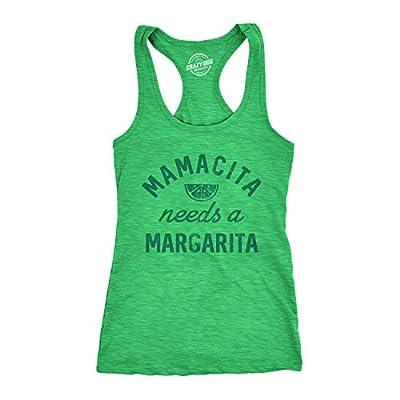 Womens Tank Mamacita Needs A Margarita Tanktop Funny Cinco De Mayo Tequila Shirt (Green) - L
