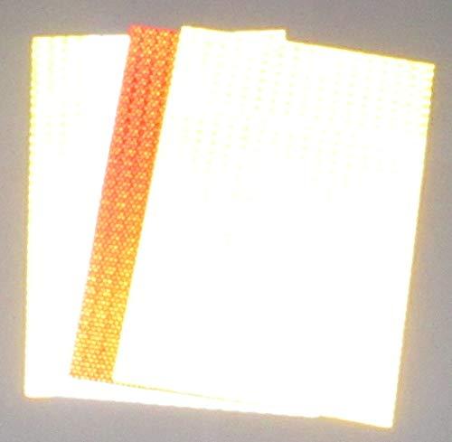 4 stuks 297x206mm reflector stickers/reflex-materiaal zelfklevend geel rood wit - sterk reflecterend, 4 x rood, 4