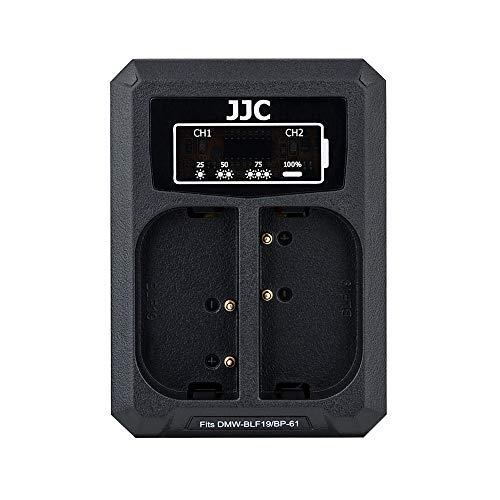 JJC USB Dual Ladegerät Akkulader für Panasonic S5 GH5s GH5 GH4 GH3, Sigma sd Quattro, sd Quattro H Kameras für Panasonic DMW-BLF19 und für Sigma BP-61 Akku