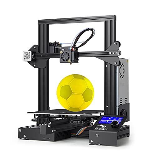 Creality Ender 3 Classic 3D Printer, stampante 3d All-in-One All-Metal + accessori potenziati (equivalente alla ender3pro), modello base, funzionamento facile