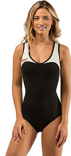 Cressi Damen DEA Swimming Wetsuit Neopren Badeanzug 1mm Neoprenanzug, Schwarz/Weiß, XS/1
