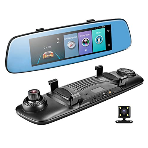 YSHtanj Smart Car DVR Auto DVR 4G 7,84 Zoll Monitor Smart 1080P Dual Lens Car DVR Touch Rückspiegel Kamera – Schwarz