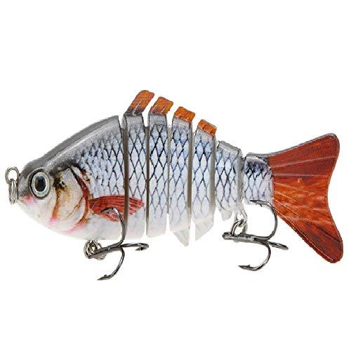 Lixada 10cm/4' 15.5g Bionic Multi Jointed Fishing Lure SUN-FISH