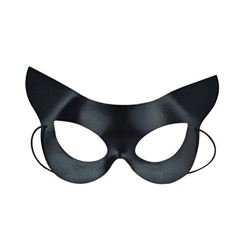 BESTOYARD Maskerade Ball Maske Half Face Catwoman Maske für Halloween Maskerade Kostüm Party Ball Kostüm (Schwarz)