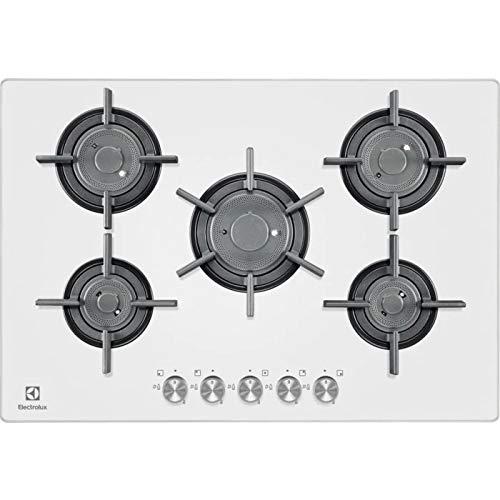 Electrolux - Piano cottura a gas PVF 750 UOB finitura cristallo bianco da 75cm