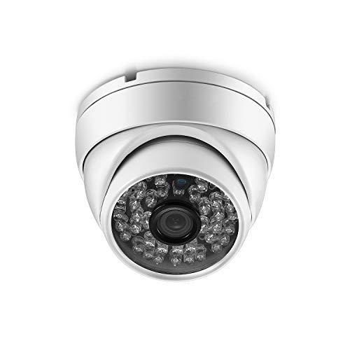 XYY Vigilancia De Metal A Prueba De Agua HD 1080P 5MP PoE Seguridad Cámara Domo IP H.265AI Al Aire Libre,3MP 2.8mm (DC12V)