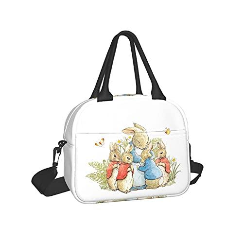 The New Adventures Pe-TER Rabbit Tonie Character Cuddly Dummies Adventure Bolsa de almuerzo aislada con almacenamiento ligero enfriador/térmica para el trabajo, senderismo, pesca, graduación 2021