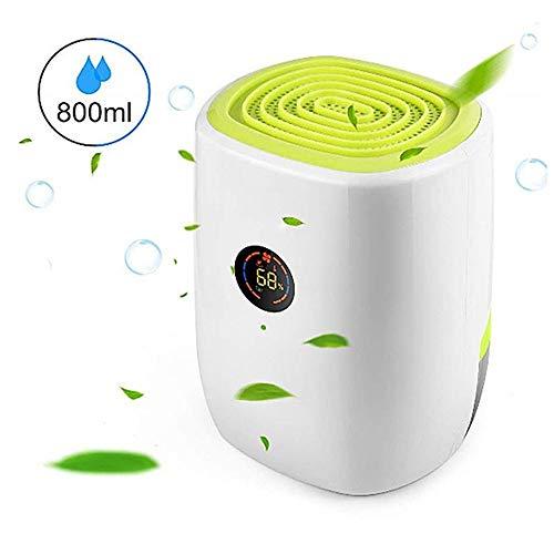 NBLYW elektrische luchtontvochtiger 800 ml met LED-display, hoge capaciteit tot 220 vierkante voeten, automatisch ontdooien voor het ondertrekken van de badkamer