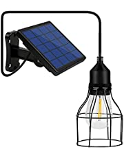 Lixada Solar hanglamp E27 buitenlamp Sensitive Light IP65 waterbestendig voor tuin erf terras balkon