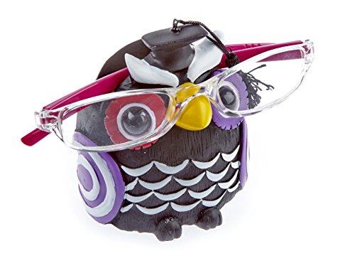 Kinderbrillenhalter, Brillenhalter Eule Uhu, Schwarz, handbemalt, lustig, für jung und alt, für Kinder und Junggebliebene, lustig und frech
