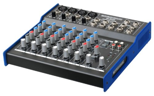 Pronomic M-802 Live/Studio Mischpult (4 Mono-Kanäle XLR/Klinke, 2-Stereo Kanäle, 3-Band-EQ, 48V Phantomspeisung)