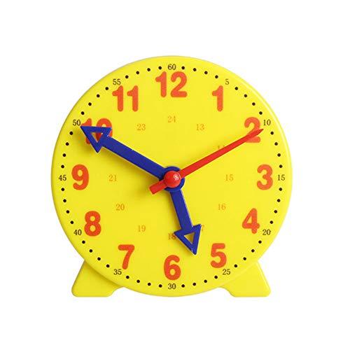 URFEDA Orologio di apprendimento,Apprendimento Numerico Didattico Grandi Orologio didattico per Studenti Big Time,Orologio Minuti Secondi Risorse didattiche Orologio Big Time per Bambine dai 4 Anni