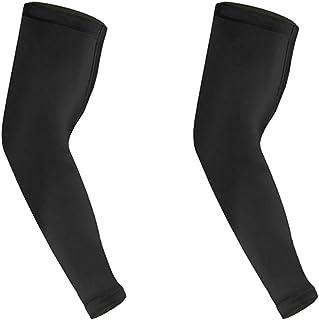 HEALIFTY 男性用スポーツアームスリーブエルボースリーブロングエルボーサポートスリーブL 2本(ブラック)