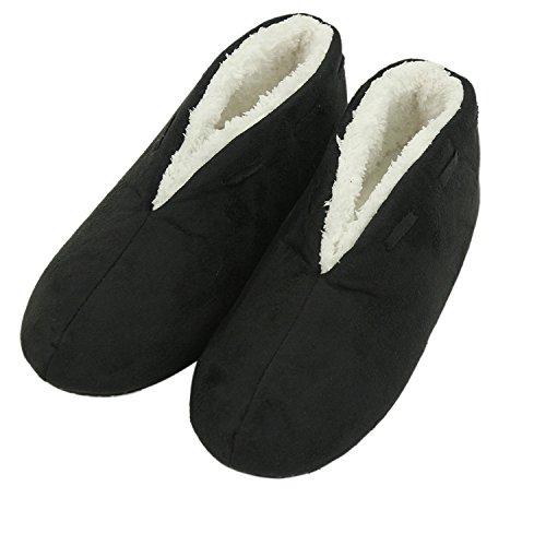 Forfoot - Damen, Stiefelette, Schlupfschuh Damen, Schwarz (schwarz), 39 EU/40 EU(Sohlenlänge:28 cm
