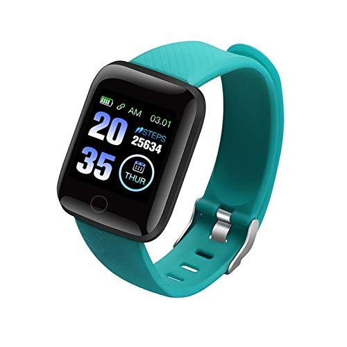 XUEMEI Smart Watch 116 Plus Pulsera Fitness Presión Arterial Ritmo Cardíaco Android Podómetro D13 Impermeable Deportes Smart Band Z2 (Color : Green)