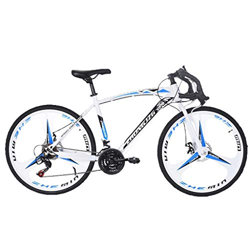 White Elephant Gifts Outroad Road Bike 21 Speed Shimano Shifter 700C Wheel Wheels with Aluminum Alloy Frame, Rider Bicycle Faster and Lighter Commuter Bike Outdoor Cycling Adult Bicycle Gift for Men