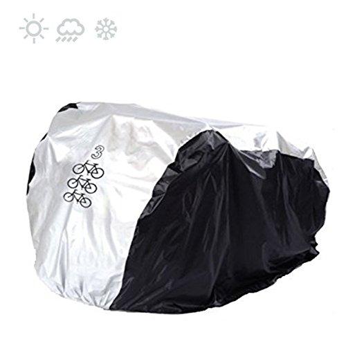 Maveek for 3 Bike Cycle Bicycle Rain Waterproof UV Protection Triple Bikes Cover All Weather Dust...