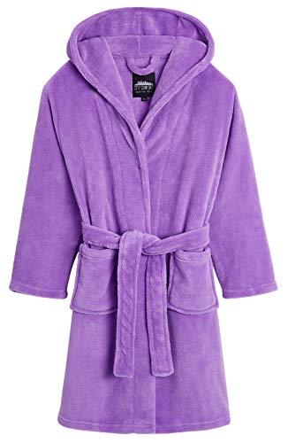 CityComfort Robe De Chambre Fille en Polaire Douce, sur Pyjama Pilou Kawaii Rose Ou Violet, Peignoir Enfant, Idée Cadeau Anniversaire Fille Ou Ado 5-14 Ans (Violet, 7-8 Ans)