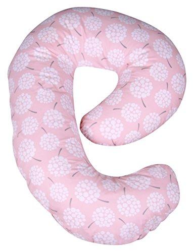 Leachco Snoogle Mini Chic - Almohada de embarazo, diseño de diente de león, color melocotón