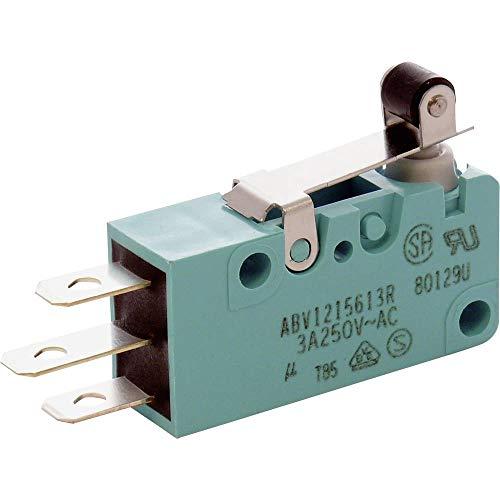 Panasonic - Microinterruptor ABV1215603R 250 V/AC, 30 V/DC 3 A 1 x On/(On) IP67 Momentaneo 1 ud.