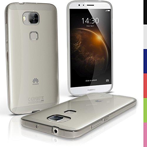iGadgitz U4054Handy TPU für Huawei G8Case Cover mit Bildschirmschutzfolie–Transparente