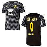 PUMA BVB Borussia Dortmund Trikot Away Kinder 2022, Größe:152, Spielerflock (zzgl. 12.90EUR):24 Meunier
