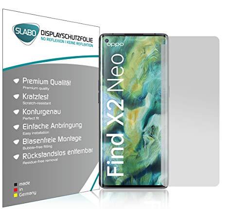 Slabo 4 x Bildschirmschutzfolie für Oppo Find X2 Neo Bildschirmfolie Schutzfolie Folie Zubehör No Reflexion MATT