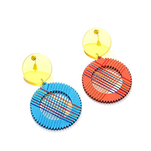 EH Mode Acryl Ohrringe Für Frauen Mädchen Erklärung Tropfen Baumeln Ohrringe Böhmischen Reifen Schmuck für Frauen Mädchen