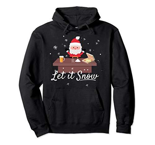Let It Snow Kokain I Weihnachtsmann Bier Humor Weihnachten Pullover Hoodie