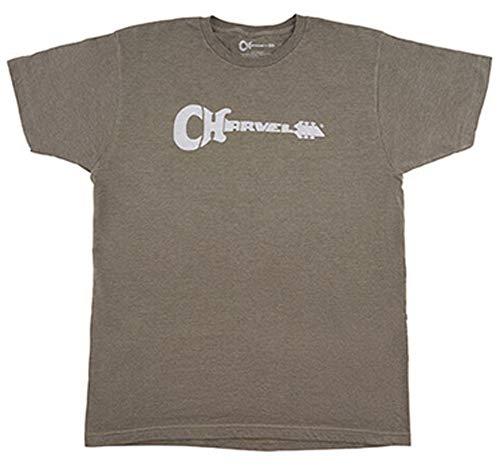 Charvel Guitars »LOGO T-SHIRT« Maglietta per musicisti - Taglia: L - Colore: Verde (Heather Green)