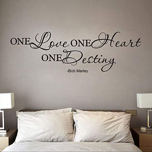Sticker mural Sweet English Character One Love Quote Amovible Decal Room Vinyle Art Décoration de La Maison Pour Les Amoureux
