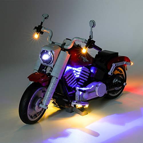 Seasy Juego de luces LED para Lego Creator Harley Davidson Fatboy compatible con Lego 10269 (sin set Lego)