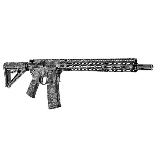 GunSkins AR-15 Rifle Skin - Premium Vinyl Gun Wrap with Precut Pieces - Easy to Install and Fits Any AR15 or M4-100% Waterproof Non-Reflective Matte Finish - Made in USA - Proveil Reaper Black