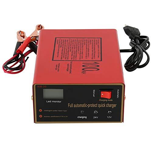 WQSFD Vollautomatisches Batterieladegerät KFZ 12V/24V Smart Pulse Repairer Ladegerät Autobatterie mit LCD-Touchscreen für Auto Motorrad Rasenmäher oder Boot