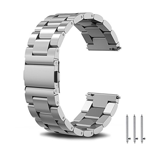 SPGUARD Correa Compatible con Correa Huawei Watch GT2 46mm Huawei Watch GT 2e Correa,Pulsera de Repuesto de Metal de Acero Inoxidable para Huawei GT2 46mm/Huawei GT 2e/Active-Plata