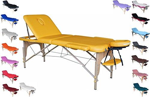 POLIRONESHOP VENERE Camilla mesa portátil para masaje estética tattoo manicura (amarillo)