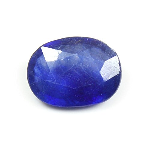 Jewelryonclick Blauer Saphir 7 Karat natürlicher Original loser Edelstein