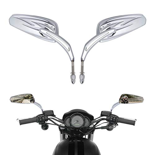 Tribal Rear View Mirrors For Harley Dyna Street Bob FXDB Softail Fat Boy FLSTC