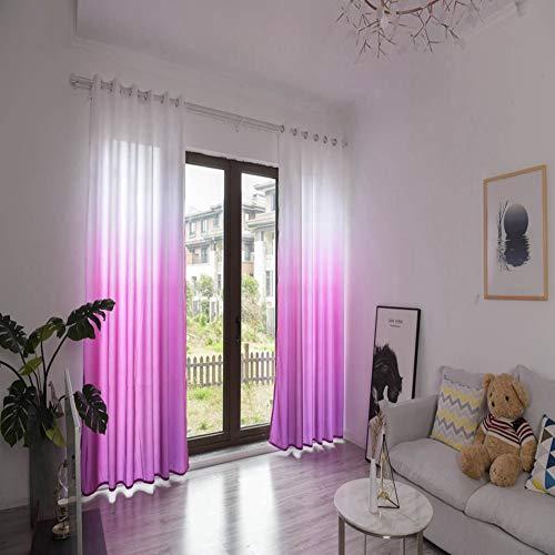 Raguso Cortina opaca de poliéster para ventana, para dormitorio, sala de estar, aislamiento térmico, con ojales, para sala de estar, dormitorio, 1 x 2,7 m (rojo rosa)