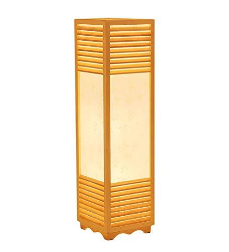 JIN Lámpara de Pie Vertical Sala de Estar de Tronco Simple Mesita de Noche Lámparas de Mesa,24X90Cm