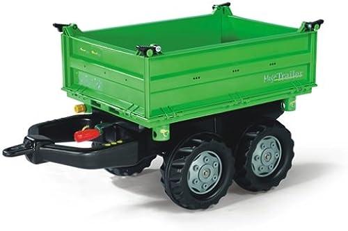 Rolly Toys rolly Mega Trailer Traktoranh er (für Kinder von 3 - 10 Jahre, ZWeißhsanh er, Dreiseitenkipper) 121502