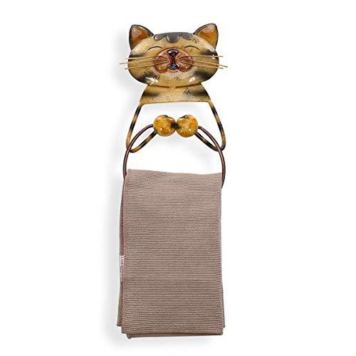 Tooarts Katze Handtuchring Halter Schwere Eisen Bad Aufhänger Handtuchhalter Schöne Tier Badezimmer Zubehör