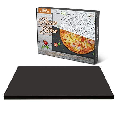 Pizzastein Pizza Ofenstein, aus Cordierit - Brotbackstein für Backofen, Servieren Für Torten, Gebäck, Kuchen, Brot, Pizza