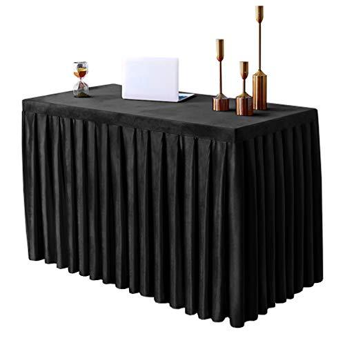 Konferenz-Tischdecke, rechteckig, aus Samt, schmutzabweisend, waschbar, für Büro, Meeting, Ausstellung