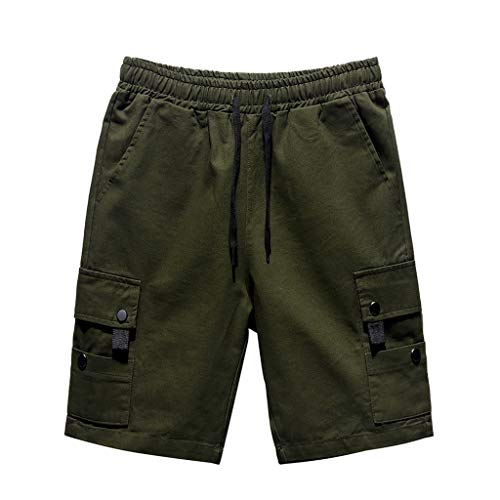 Pantalones Cortos Hombre, SUNNSEAN Pants Shorts para Hombres para el Gimnasio y para Hacer Deportes Pantalones Cortos Ajustada y Bolsillos Color Liso Moda Pantalón Deportivo de Playa