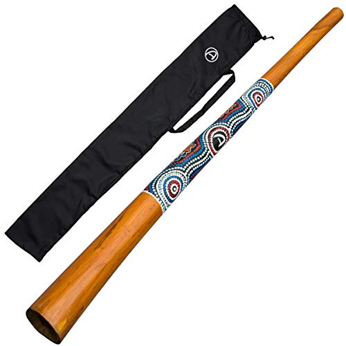 Australian Treasures - Holz Didgeridoo 130cm - Blasinstrument - Rehabilitationstherapie für die Lunge - Ex-Corona-Patienten