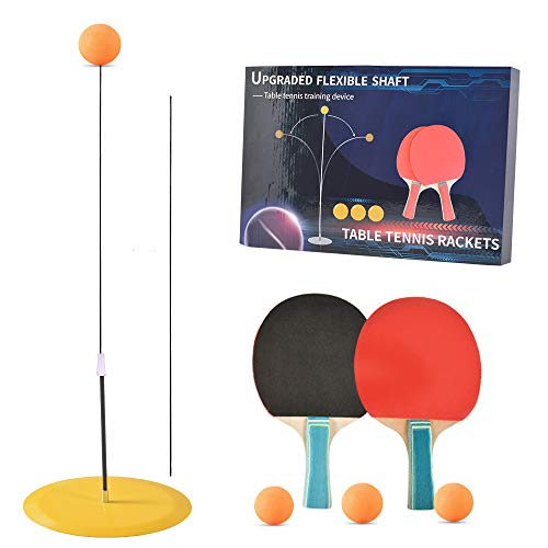 Best Prices! Table Tennis Trainer Elastic Shaft,Portable Table Tennis with Elastic Soft Shaft Leisur...